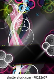 an abstract and colorful event design / background