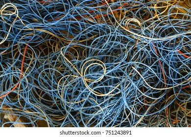 An abstract of colorful fishing net.