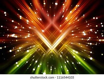 Abstract colorful fractal composition. Motion illustration. Illustration for design.