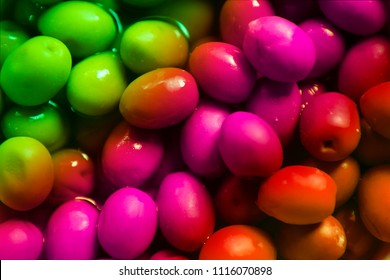 Abstract and colorful fruit