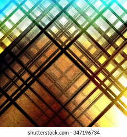 Abstract colorful grunge background with lines