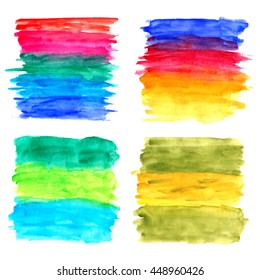 Abstract colorful hand drawn watercolor banner for any design workflow