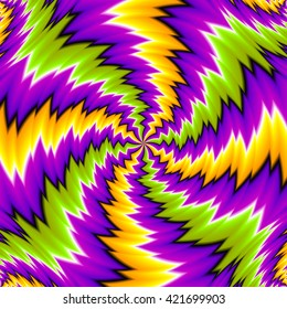 Abstract colorful  illusion
