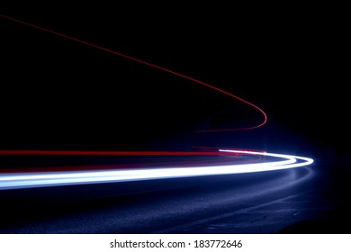 Abstract colorful lights in car