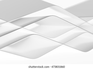 Abstract colorful lines and 3D shapes with wave form. 3d illustration