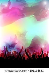 an abstract colorful party background for design