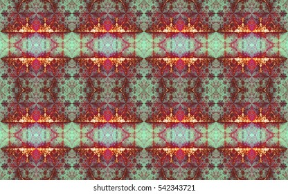 Abstract colorful seamless pattern with a detailed interconnected arches and small flowers,ideal for any kind of fabric,print or any other creative use,in high resolution and vivid colors