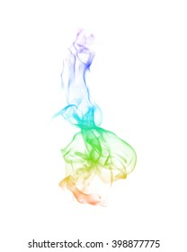 Abstract colorful smoke on black background