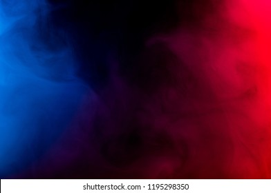 abstract colorful smoke on dark background