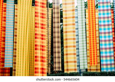 Abstract Colorful Striped loincloth fabric texture background