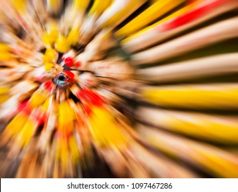 abstract colorful zoom
