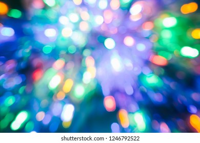 abstract colors background with bokeh blur light Christmas New Year