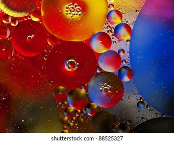 abstract colors background from bubbles on water level