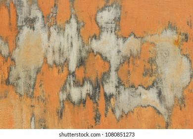 Abstract Colors. Old Painted Wall. Wall Texture Background.Wall Texture Grunge Background With A Lot Of Copy Space. Abstract Background, Orange And Gray Colors. Colorful Abstract Painted Background.