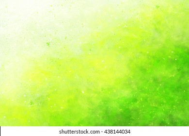 Abstract colourful watercolour background in shades of green