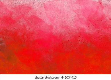 Abstract colourful watercolour background in shades of pink and red