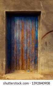 Abstract colourful wooden Door to mystery room