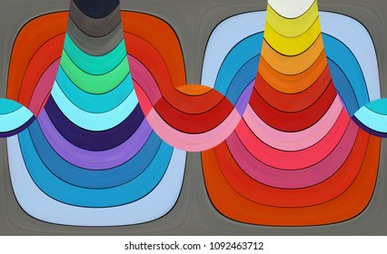 Abstract composition - colored stripes