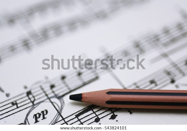 Abstract Composition Learning Piano Music Stock Photo (Edit Now
