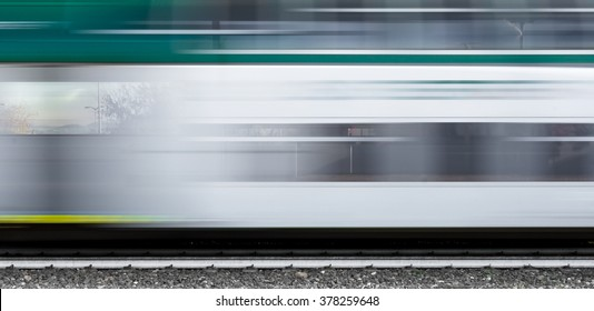 Abstract composition of moving train with motion blur