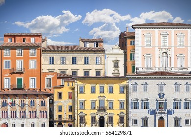 Abstract composition of typical old Italian buildings (Italy - Pisa) - concept image