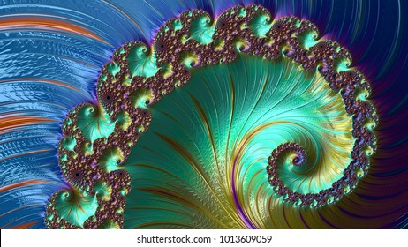 Abstract Computer generated Fractal design. A fractal is a never-ending pattern. Fractals are infinitely complex patterns that are self-similar across different scales. Could be used for cellphone art