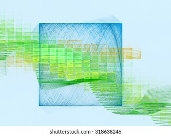 Abstract computer generated image - fractal in soft tones