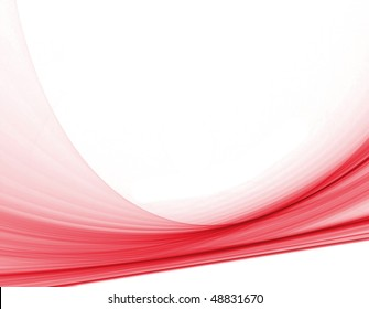 abstract computer generated smooth red swirls over a white background