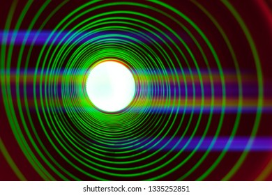 Abstract conceptual background with futuristic high tech wormhole tunnel