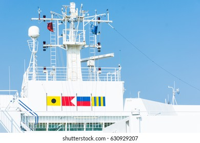 Abstract and conceptual technology, radar on a ship. ARPA is one of maritime navigation tool, to avoid collisions or accidents at sea fog.
