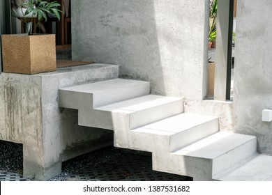abstract concrete stair step for decoration