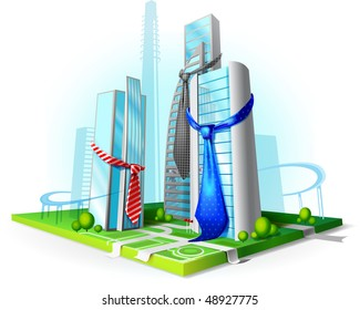 Abstract Of A Corporate Building And The Tie