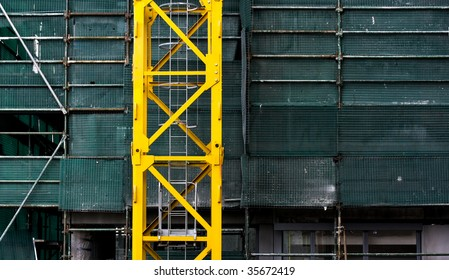 abstract crane and scaffolding crop
