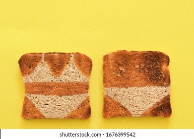 Abstract Crusty Bread Toast Slice And Summer Tan Lines