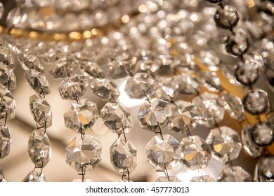 Abstract crystal chandelier - Glamour background