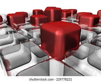 abstract cubes design