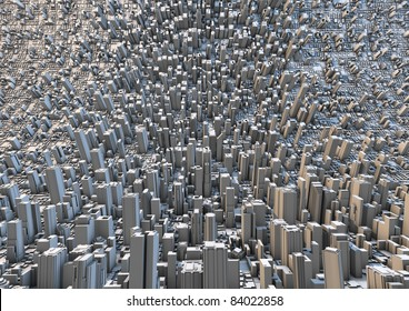abstract curved city
