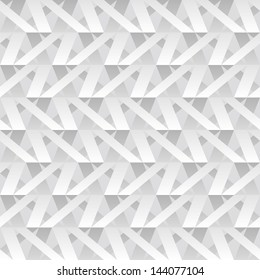 Abstract cut paper grid construction. Seamless pattern.