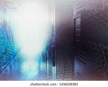 abstract cyber data center background