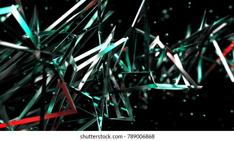 Abstract cyberspace conception background, 3d illustration