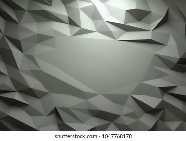 Abstract dark 3d rendered geometric low poly background