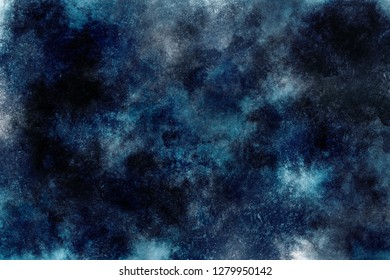 abstract dark background cloud image sci-fy space watercolor sky universe texture cosmic galaxy blue black night