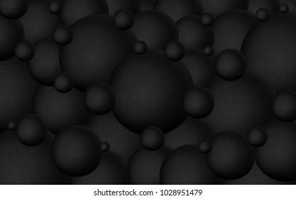 Abstract dark background, sphere
