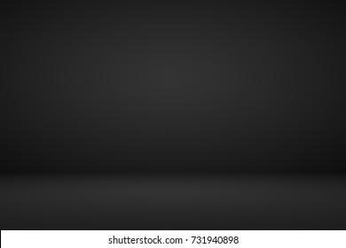 Abstract dark black gradient vignette empty space studio room for present product ad