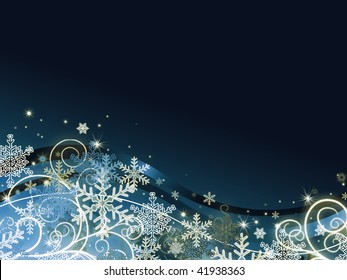 abstract dark blue christmas background