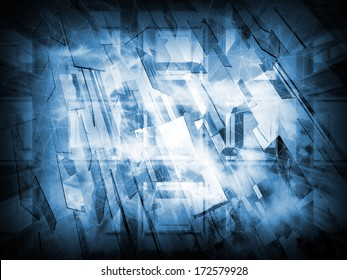 Abstract dark blue new technology conceptual background texture