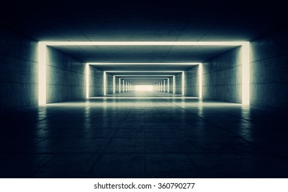 Abstract dark concrete geometric background. 3D rende