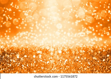 Abstract dark orange black glitter sparkle confetti background for happy birthday invite, Autumn Fall gala, November Thanksgiving texture, spooky Halloween party, sale ad or October kid trick or treat