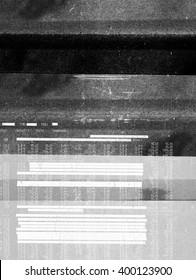 Abstract dark photocopy texture with redacted text