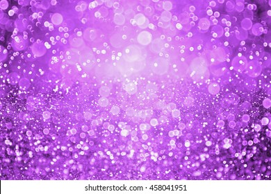 Abstract dark purple glitter sparkle confetti background and invite for Halloween night, party or club